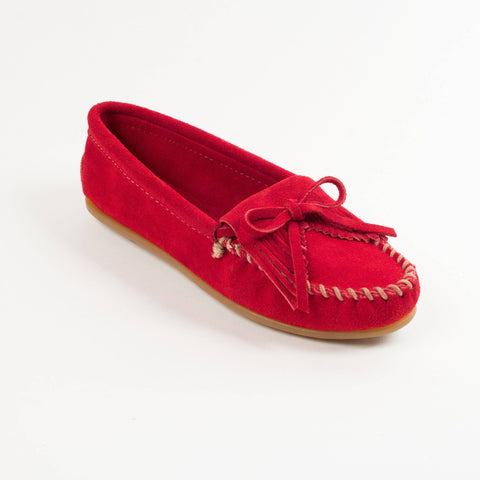 Image of Women's Kilty Hardsole Moccasins Red 406