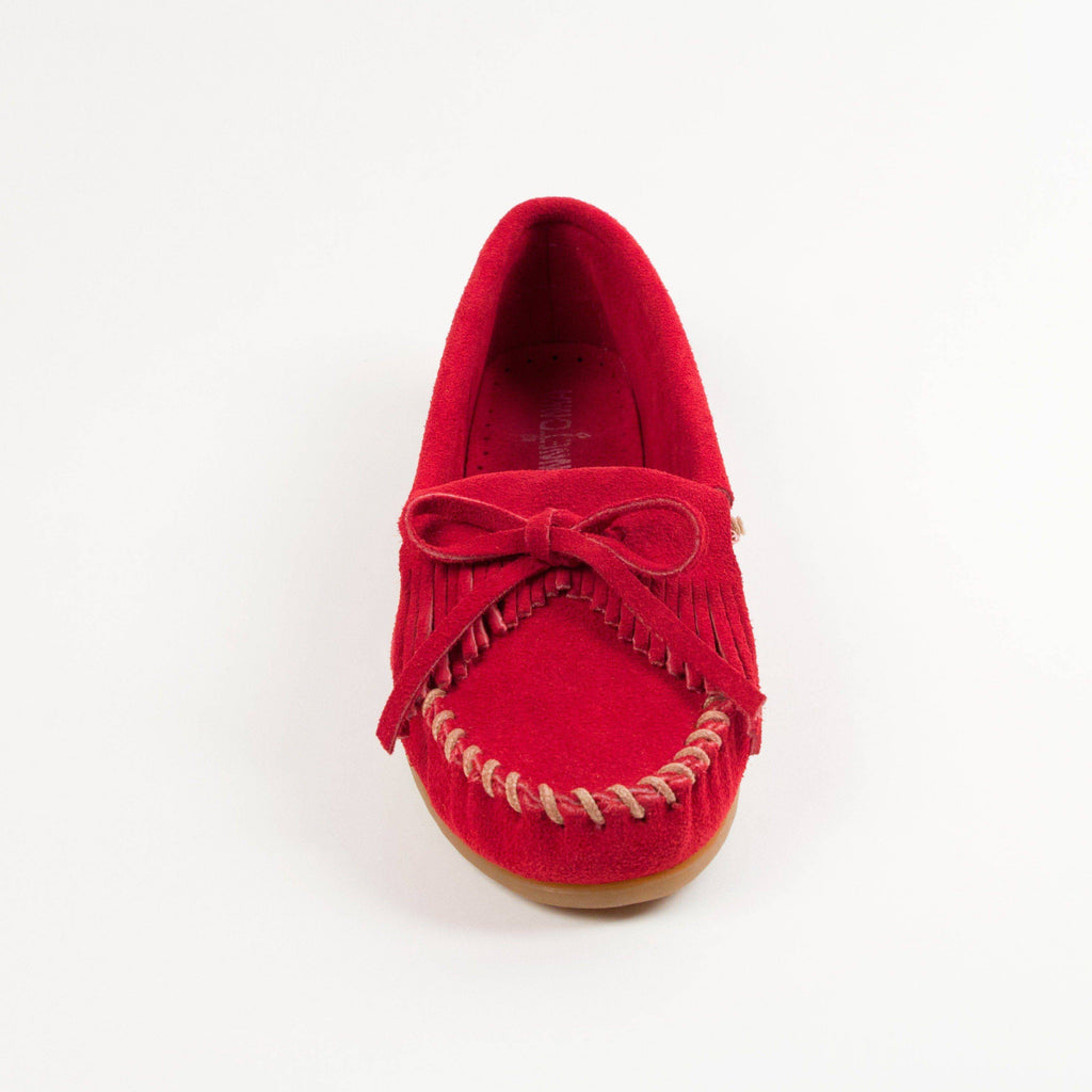 Women's Kilty Hardsole Moccasins Red 406
