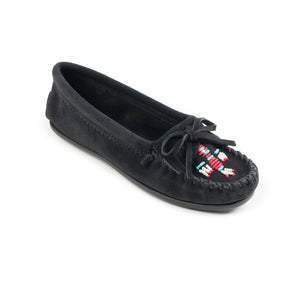 Minnetonka Women's Thunderbird II Beaded Moccasins Black 600