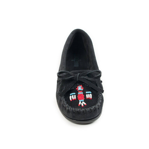 Image of Women's Thunderbird II Beaded Moccasins Black 600