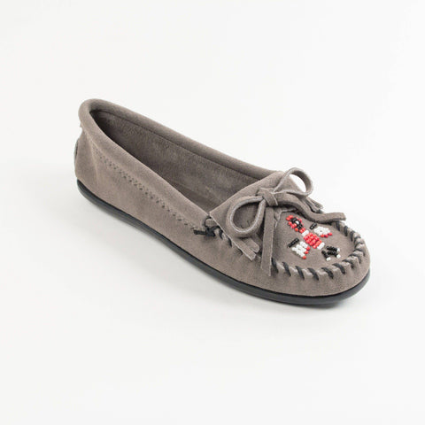 Women's Thunderbird II Beaded Moccasins Grey 600