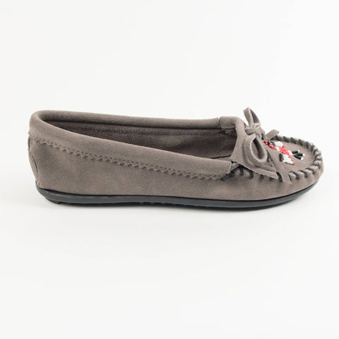 Image of Women's Thunderbird II Beaded Moccasins Grey 600