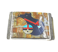 Load image into Gallery viewer, Zuni Bear and Sunface Belt Buckle