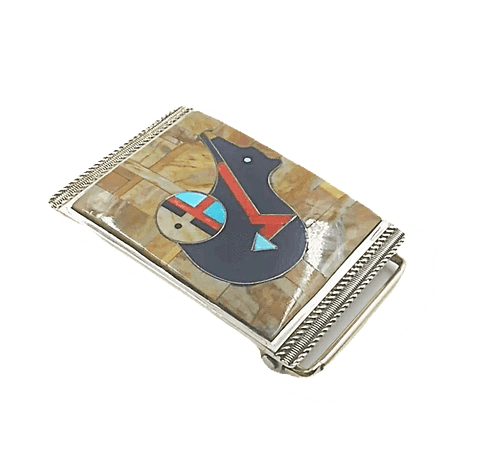 Image of Zuni Bear And Sunface Belt Buckle