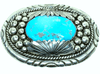 Zuni Large Stone Sleeping Beauty Turquoise Buckle