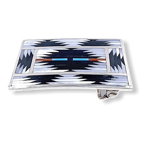 Image of Zuni Traditional Inaly Belt Buckle
