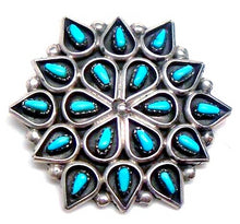Load image into Gallery viewer, Zuni Turquoise Petit Point Pendant/Pin