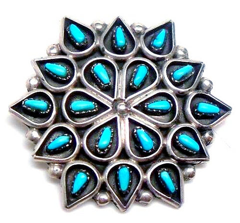 Image of Zuni Turquoise Petit Point Pendant/Pin