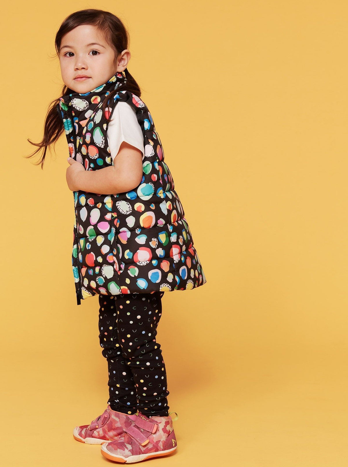 Colour Me Leopard Puffer Vest - Kids (PREORDER) - Mama Movement