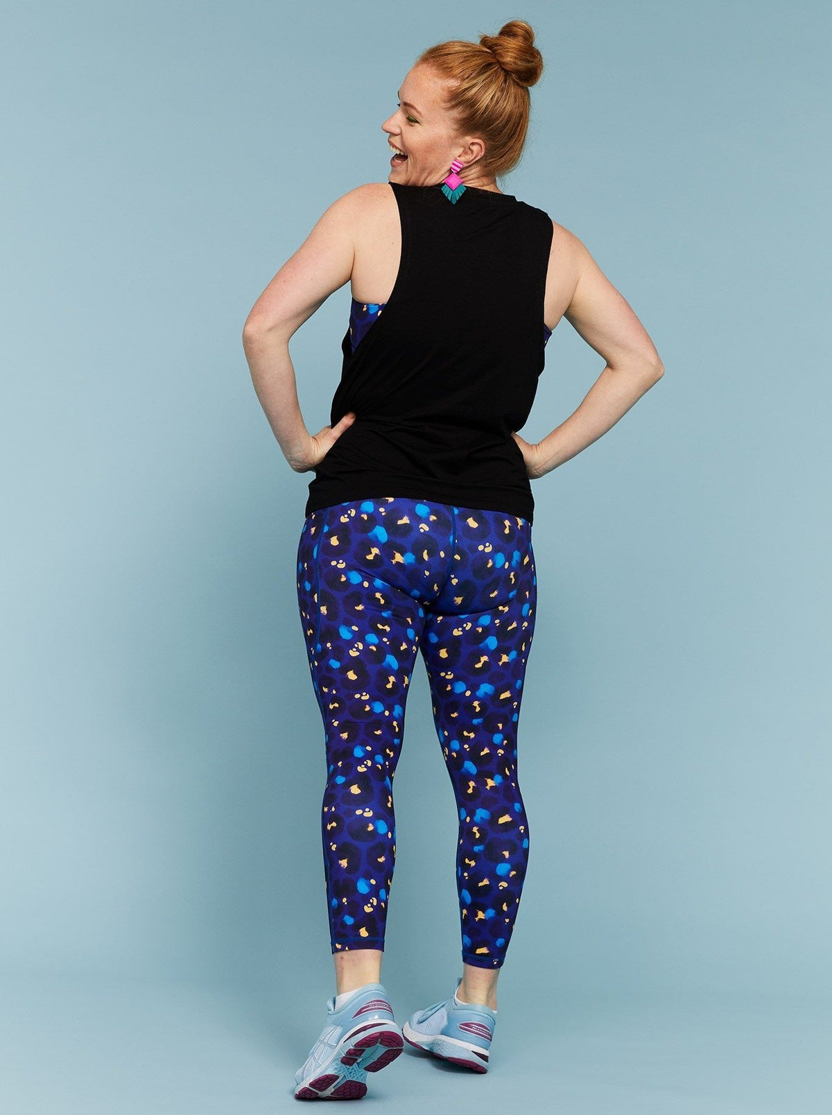 Midnight Leopard Everyday Legging - 7/8 length - Mama Movement