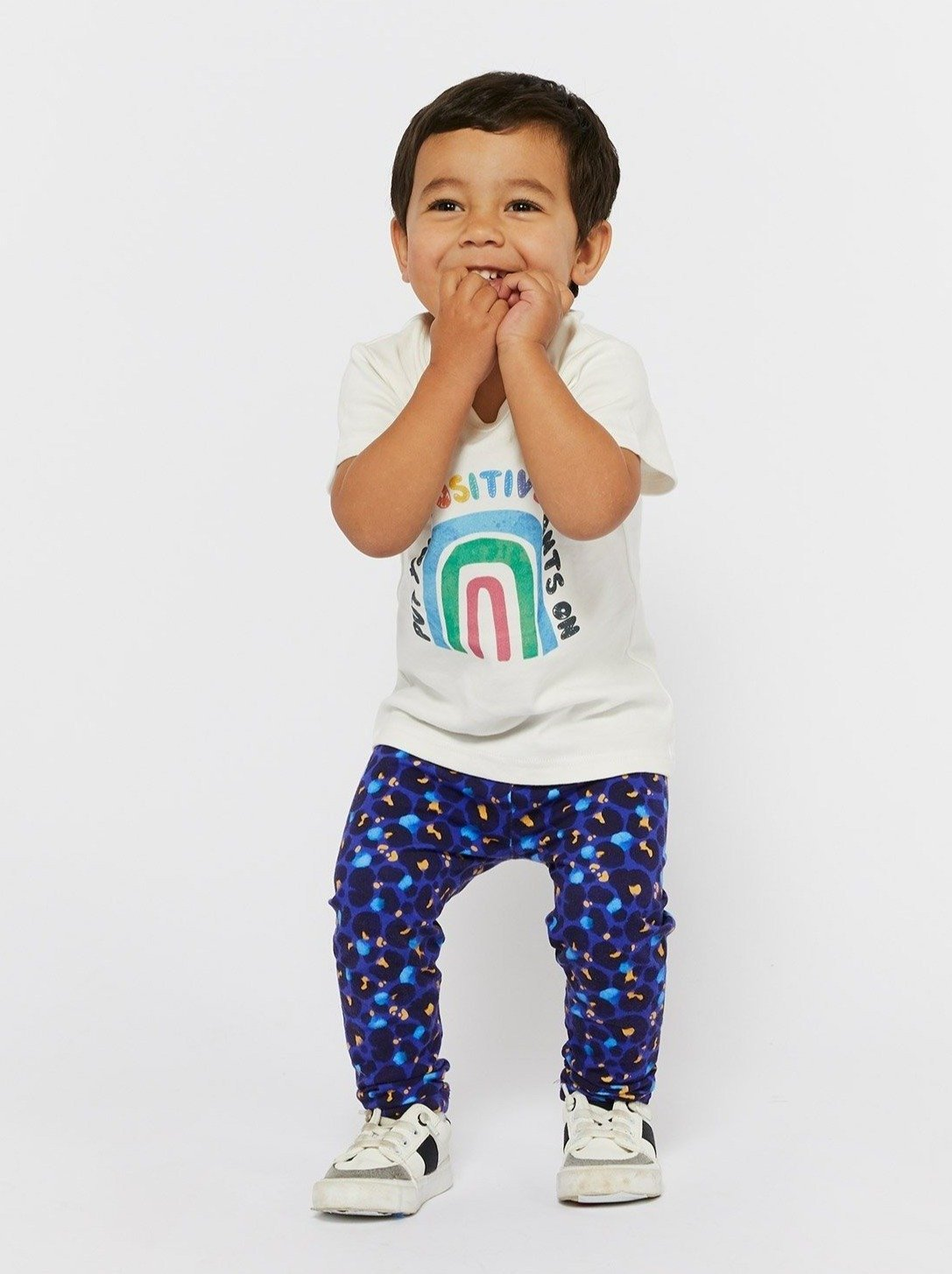 Midnight Leopard - Organic Cotton Kids Leggings - Mama Movement