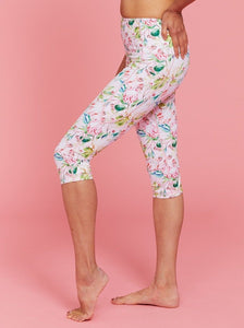 Pinky Protea Everyday Cropped Legging (PREORDER) - Mama Movement