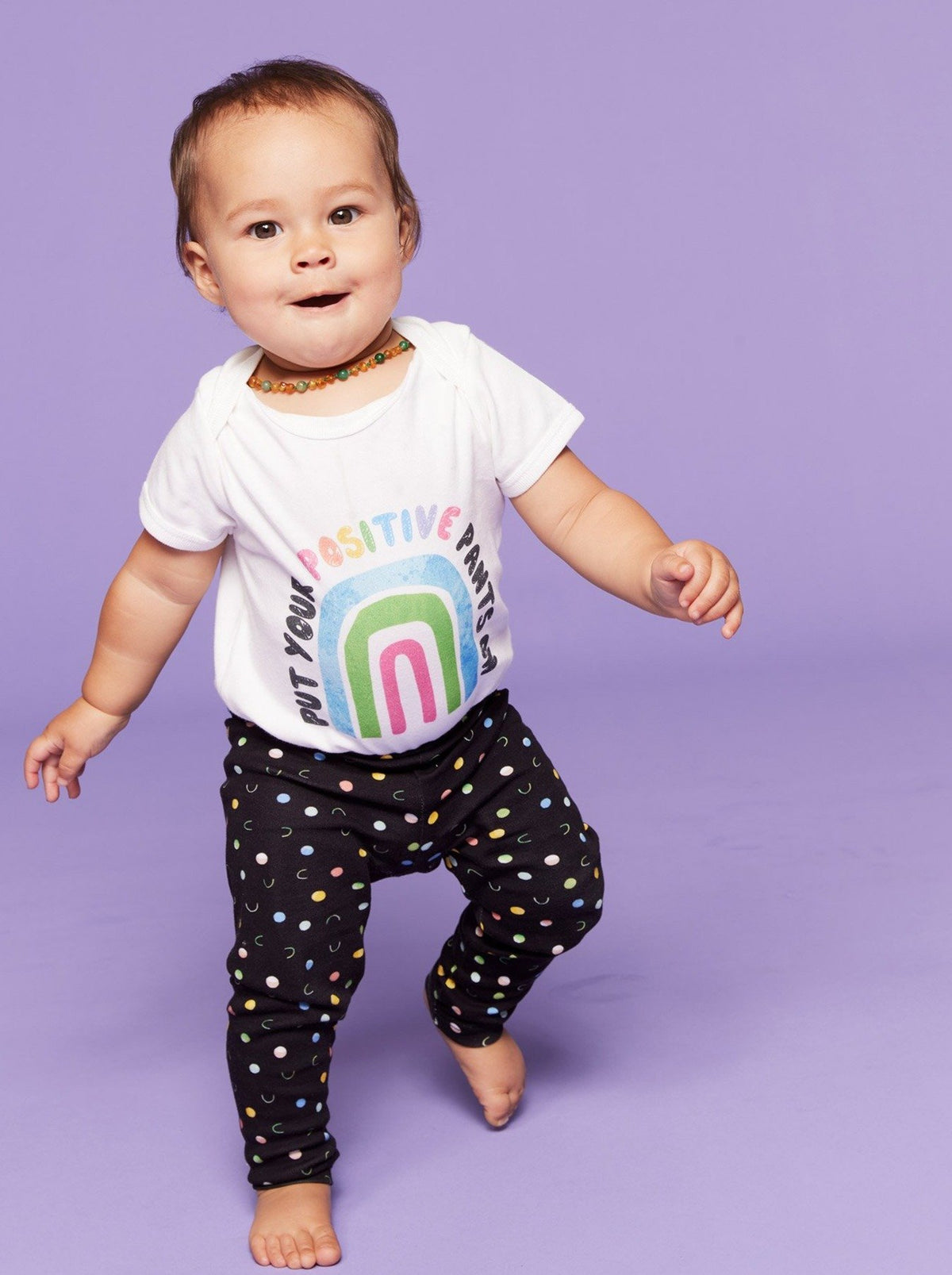 Polka Sporty - Organic Cotton Kids Leggings - Mama Movement