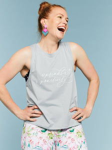 Sprinkle Positivity Muscle Tank (Pink or Sage) - Mama Movement
