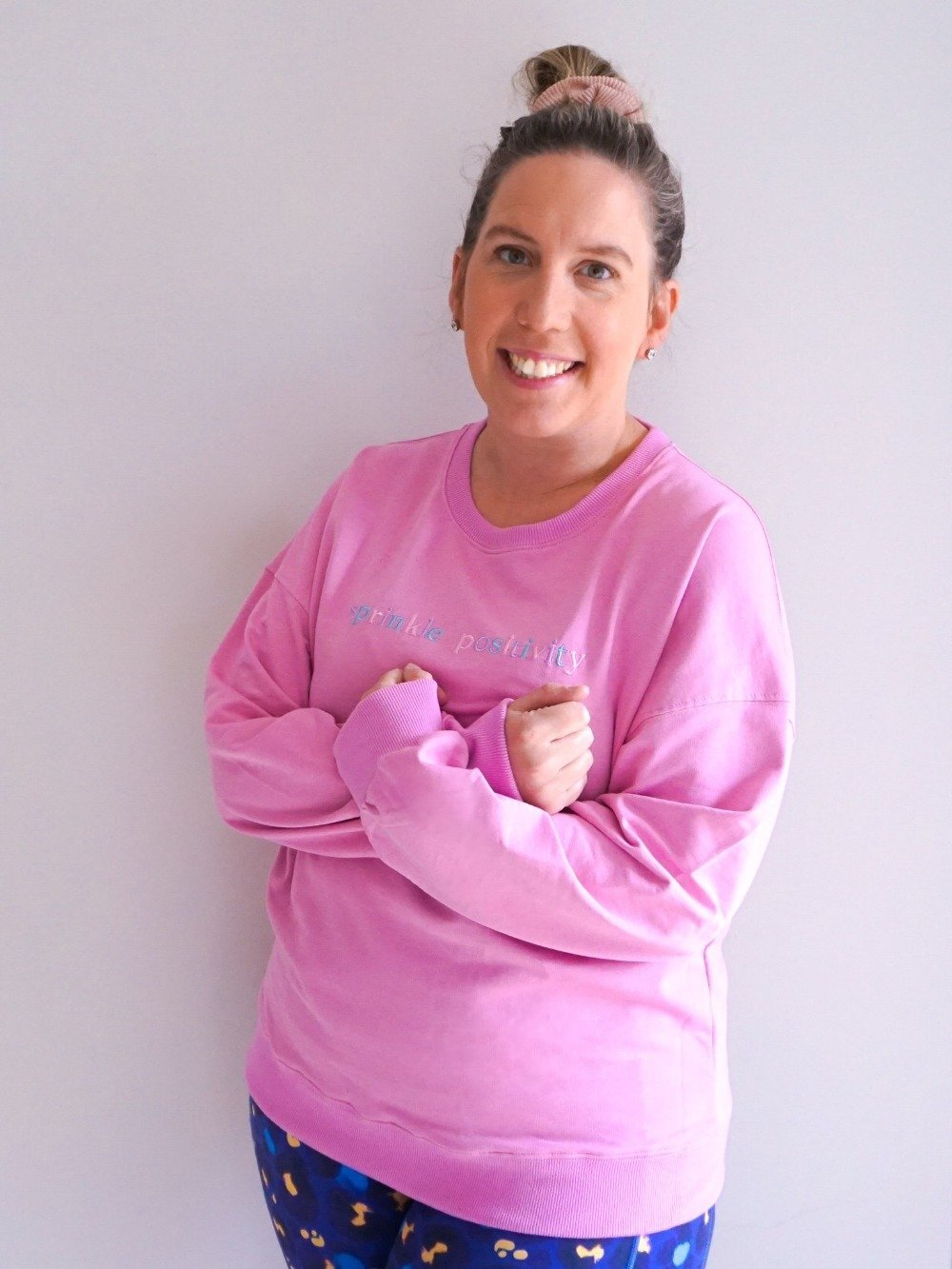 Sprinkle Positivity Sweatshirt - Fuschia - Mama Movement