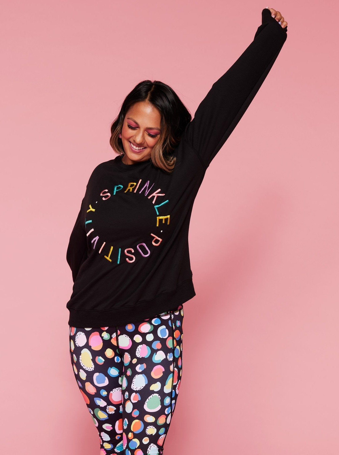 Sprinkle Positivity Sweatshirt Jumper - Black (PREORDER) - Mama Movement