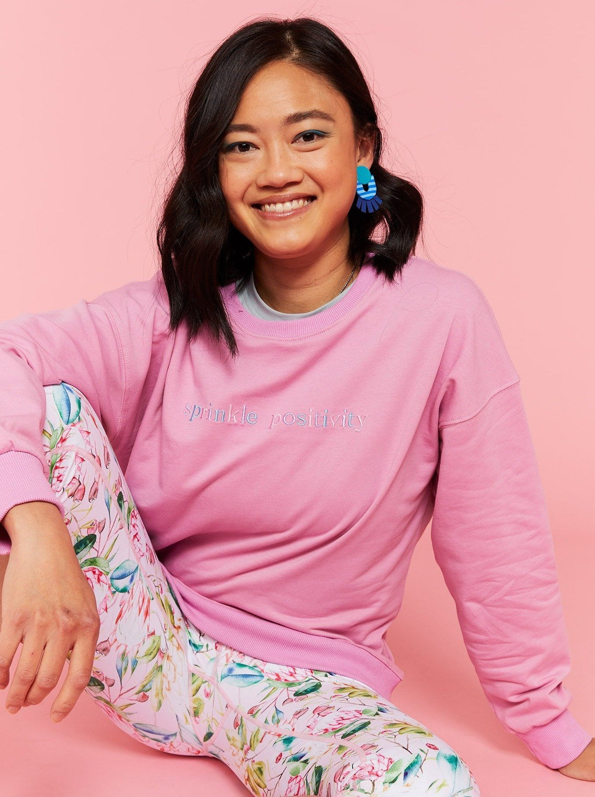 Sprinkle Positivity Sweatshirt Jumper - Pink - Mama Movement