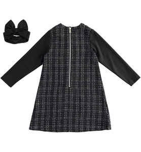 WOVEN DRESS WITH SLEEVES