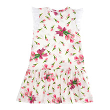 Load image into Gallery viewer, Tulip Bow Print Jersey Dress