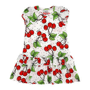 Cotton Cherry Print Dress