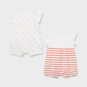 Set of 2 short rompers