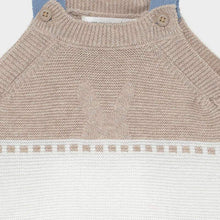 Load image into Gallery viewer, Knit dungarees set