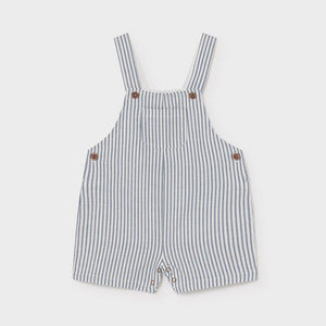 linen striped short overall