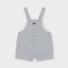 Load image into Gallery viewer, linen striped short overall