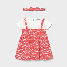 Load image into Gallery viewer, mixed dress with polka dots