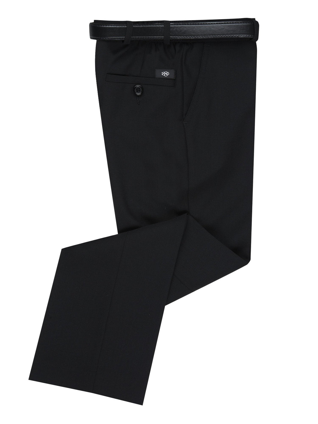 1880 #32 Basic Plus Fit Black Trousers