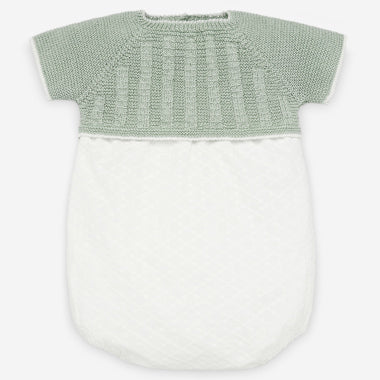 Paz #14 BABY BOY GREY AND WHITE ROMPER
