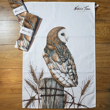 Load image into Gallery viewer, 'Barn Owl' tea towel