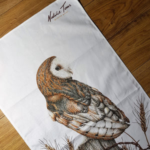 'Barn Owl' tea towel
