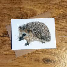Load image into Gallery viewer, 'Cautious Hedgehog' card