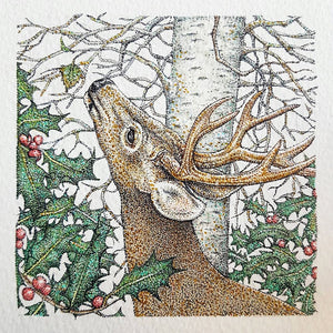 'Winter Stag' card