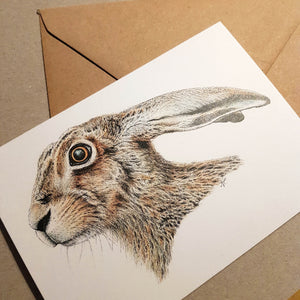 'Startled Hare' card