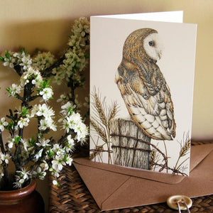 'Barn Owl' card