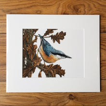 Load image into Gallery viewer, 'Nuthatch and Oak' Giclée print