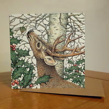 Load image into Gallery viewer, 'Winter Stag' card