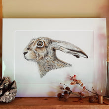Load image into Gallery viewer, 'Startled Hare' Giclée print