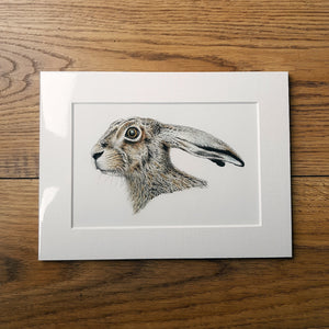 'Startled Hare' Giclée print