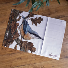 Load image into Gallery viewer, 'Nuthatch and Oak' tea towel