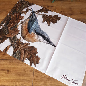 'Nuthatch and Oak' tea towel