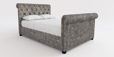 Next Crushed Velvet Bed