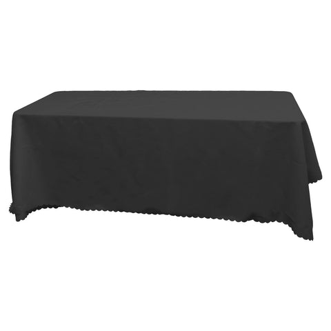 Black Square Banquet Tablecloth