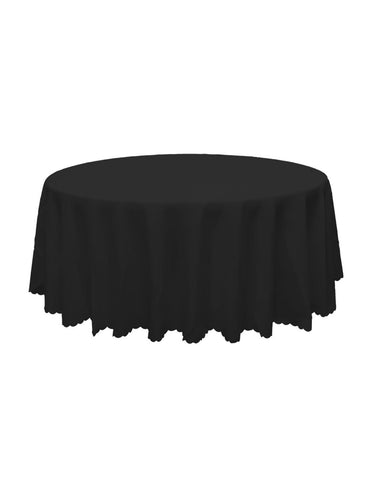 Black Round Banquet Tablecloth