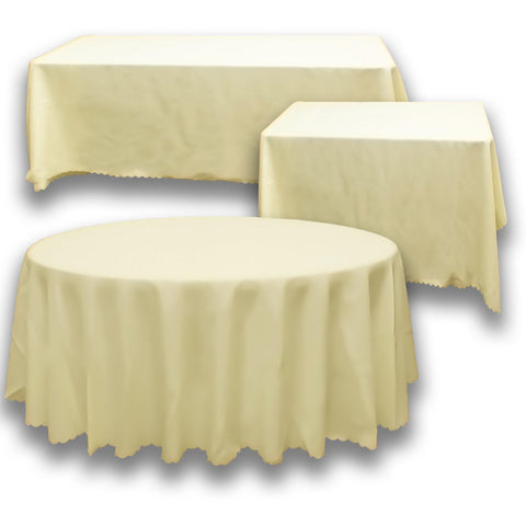 Ivory Square Banquet Tablecloth
