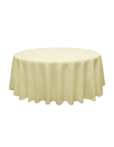 Ivory Round Banquet Tablecloth
