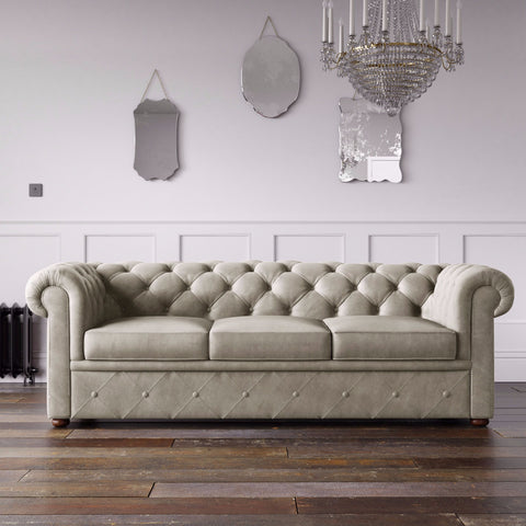 Chesterfield Malia Velvet Sofa Putty