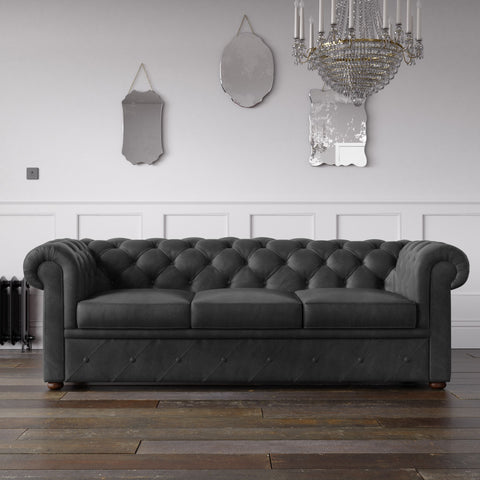 Chesterfield Malia Velvet Sofa Black